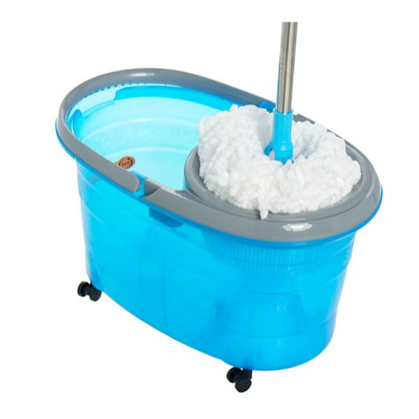 Clean Spin 360 Microfiber Spin Mop & Bucket System with Wheels-Daily Steals
