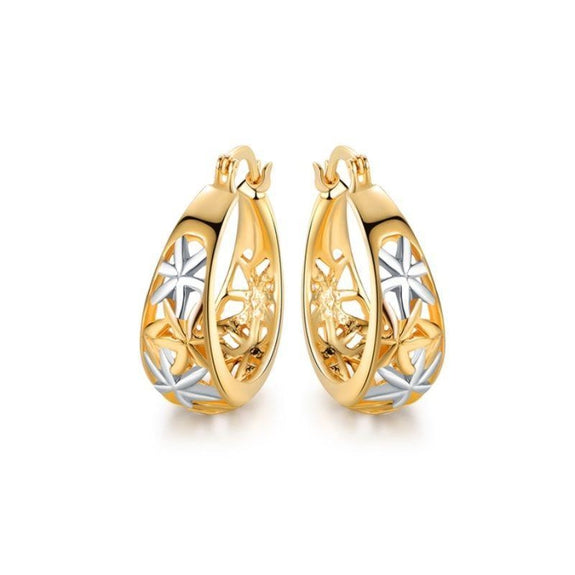Moroccan Filigree Hoop Earrings In 18k Gold Plating by Euphir-Daily Steals