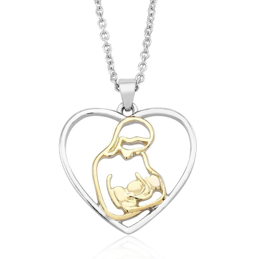 Daily Steals-Mother And Child Heart Drop Necklace-Jewelry-