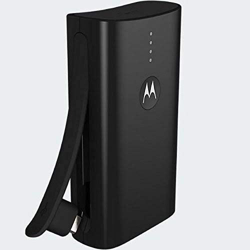 Motorola 3000mAh Motorola Power Bank Charger with Built-In USB and Micro USB-Black-Daily Steals