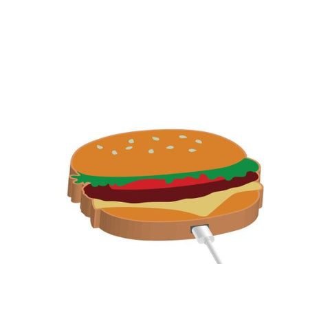 Daily Steals-Moxi Wireless Phone Charger Pad - Food Themed-Cell and Tablet Accessories-Burger-