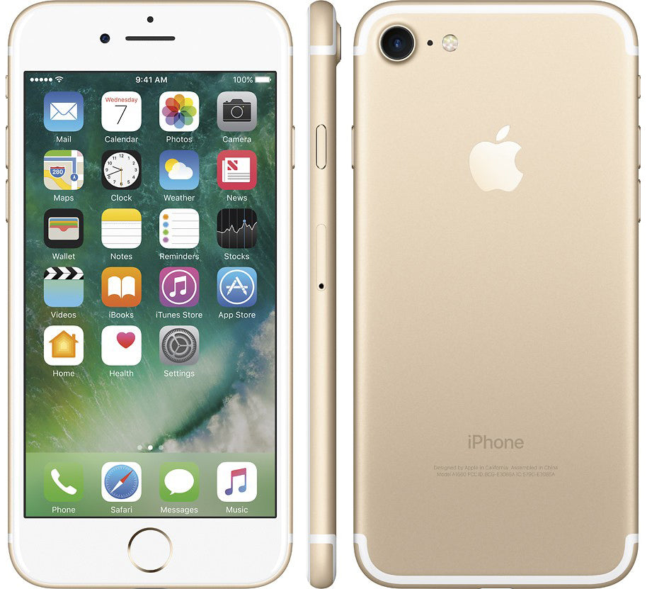 Apple iPhone 7 32GB Unlocked GSM Quad-Core Phone w/ 12MP Camera - Gold (Certified Refurbished)