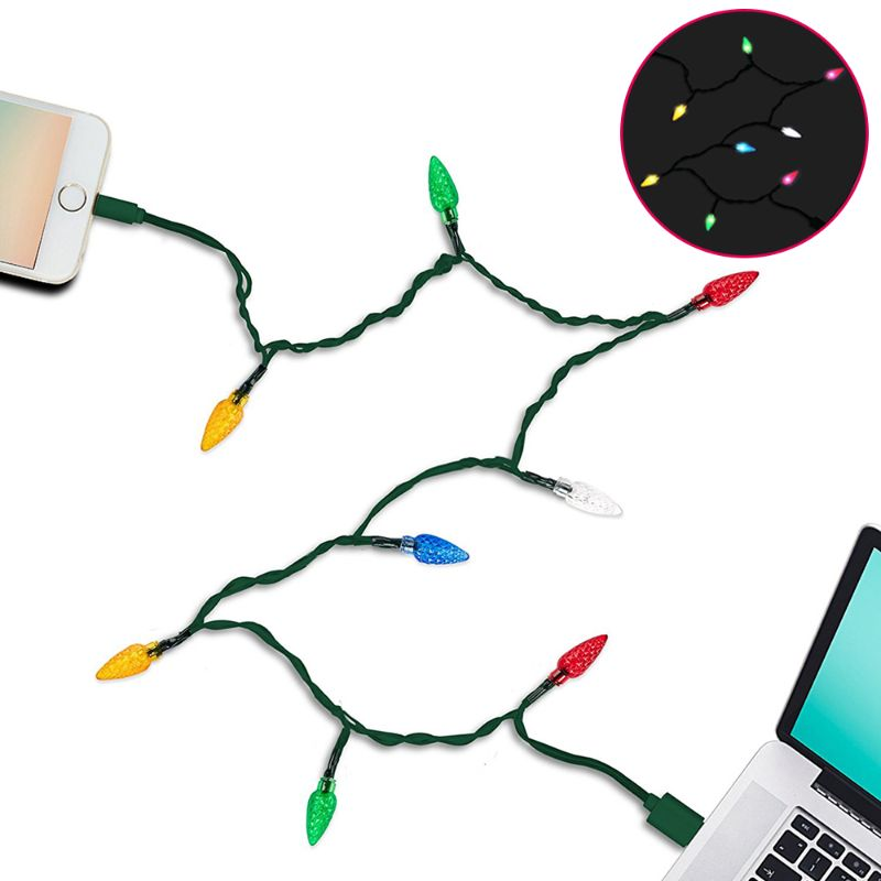 Christmas LED Light Up Charger - 3.83 Feet