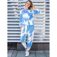 Womens Tie Dye Sweatsuit-Daily Steals