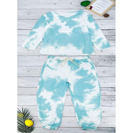 Womens Tie Dye Sweatsuit-Green-XXL-Daily Steals