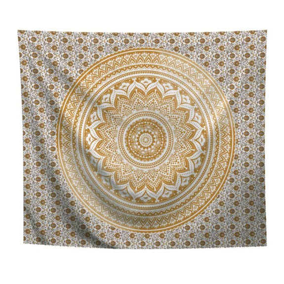 "Boho Mandala Wall Art Hanging - 60"" x 51""-Gold-Daily Steals"