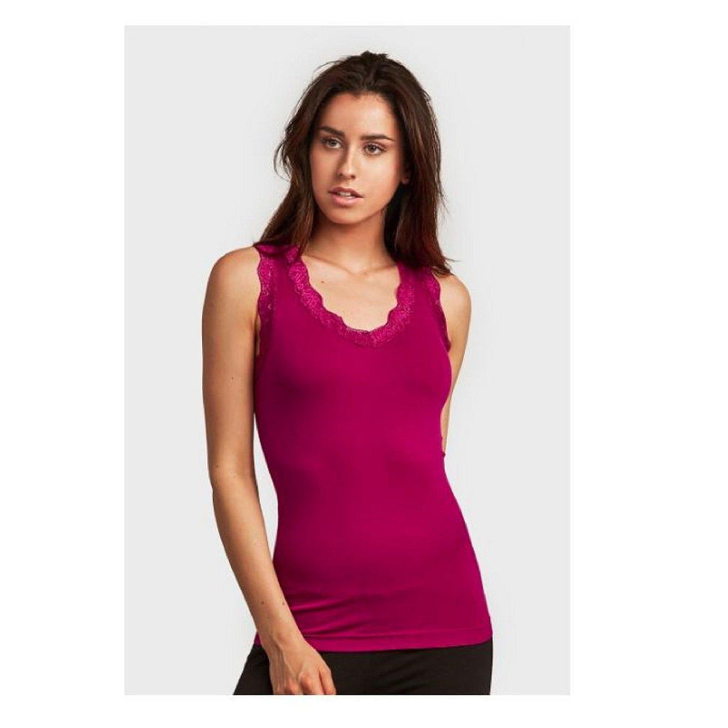 Women's Lace Tank Top - 2 Pack-M.red-Daily Steals