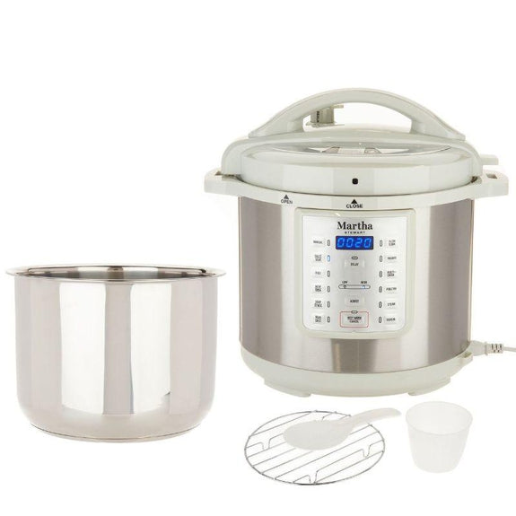 Martha Stewart 8 Qt 7-In-1 Digital Stainless Steel Pressure Cooker