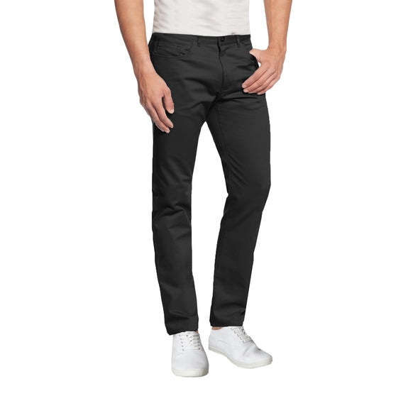 Daily Steals-Mens 5-Pocket Ultra-Stretch Slim Fit Chino Pants-Men's Apparel-Black-30X30-