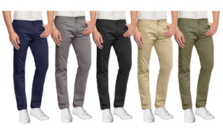 Daily Steals-Mens 5-Pocket Ultra-Stretch Slim Fit Chino Pants-Men's Apparel-