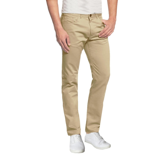 Daily Steals-Mens 5-Pocket Ultra-Stretch Slim Fit Chino Pants-Men's Apparel-Khaki-30X30-