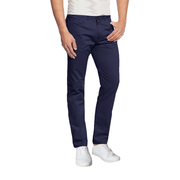 Pantalon chino ultra-extensible à 5 poches pour homme-Navy-30X30-Daily Steals