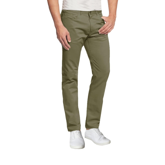 Pantalon chino ultra-extensible à 5 poches pour homme-Olive-30X30-Daily Steals