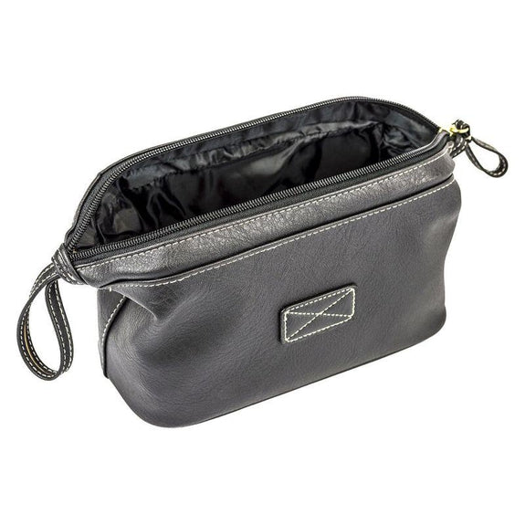 R70 Mens Compact Top Frame Toiletry Travel Bag - Black-Daily Steals