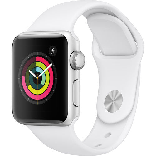 Apple Watch Series 3 Smartwatch (GPS Only)-38mm-Silver Aluminum Case with White Sport Band-Daily Steals