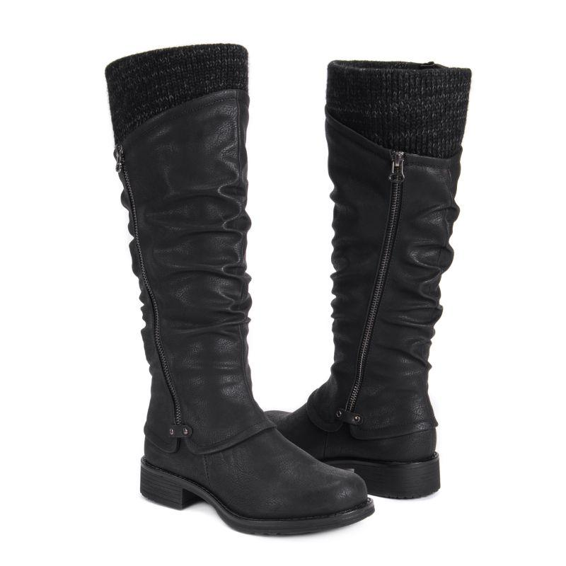 MUK LUKS Women's Bianca Boots-Black-6-Daily Steals
