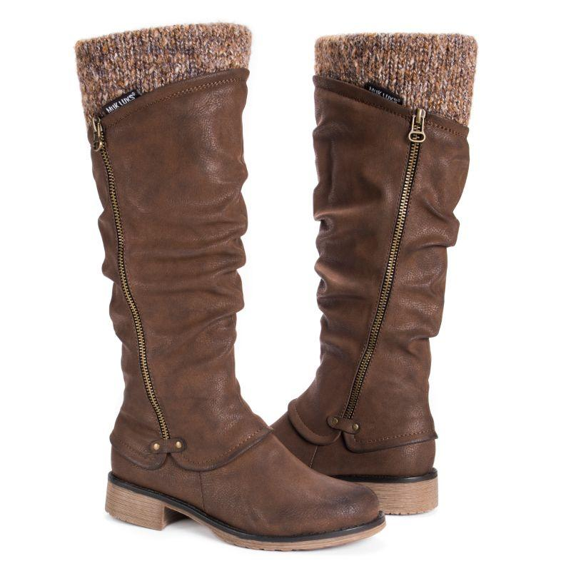 MUK LUKS Women's Bianca Boots-Brown-6-Daily Steals