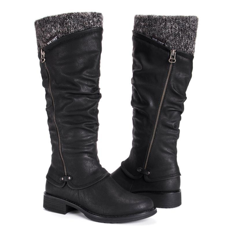 MUK LUKS Women's Bianca Boots-Medium Black-6-Daily Steals