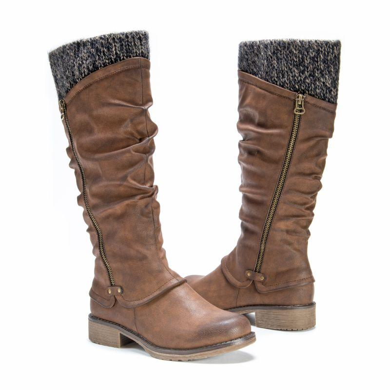 MUK LUKS Women's Bianca Boots-Medium Brown-8-Daily Steals