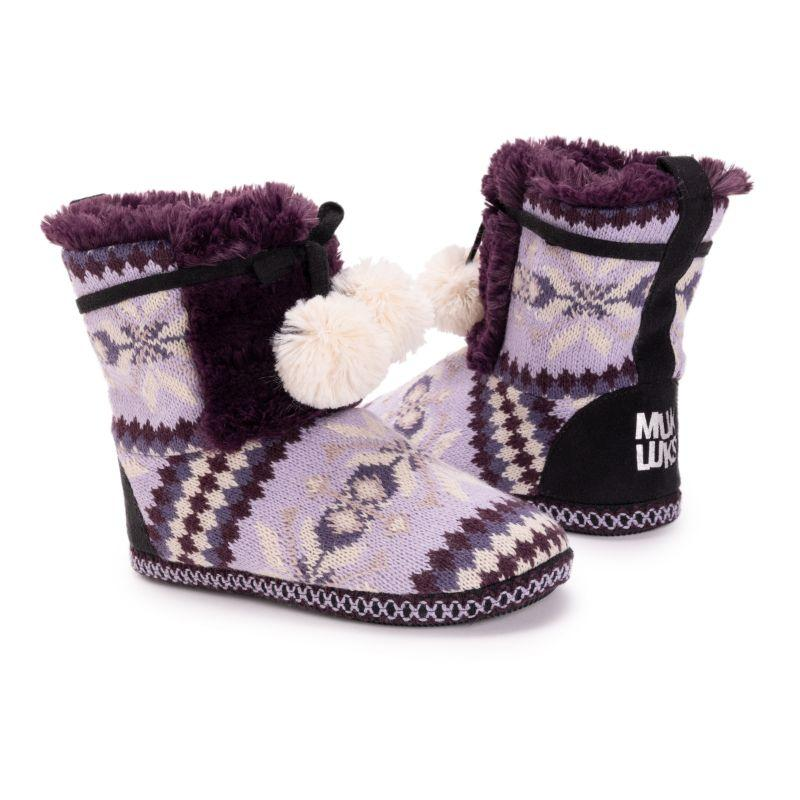 Muk Luks Women's Gracilyn Slippers-Aubergine-Large (9-10)-