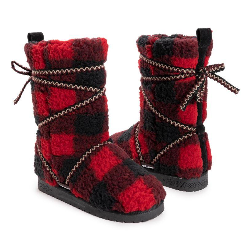 MUK LUKS Women's Reyna Boots-Red/Black-6-