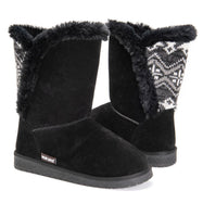 MUK LUKS Women's Carey Boots-Ebony-6-Daily Steals