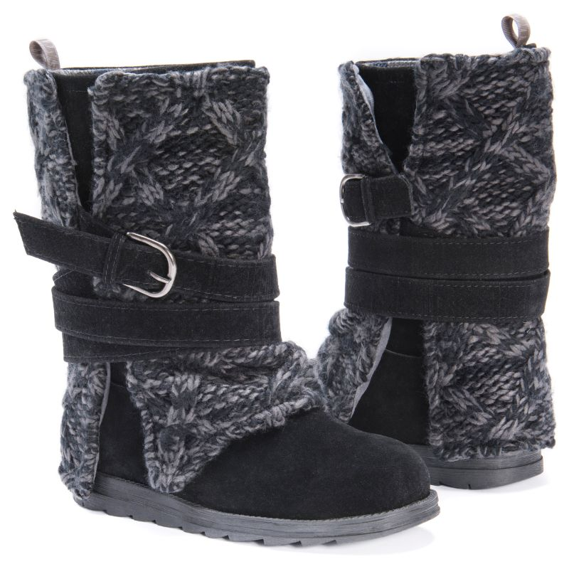 MUK LUKS Women's Nikki Boots-Black-6-Daily Steals