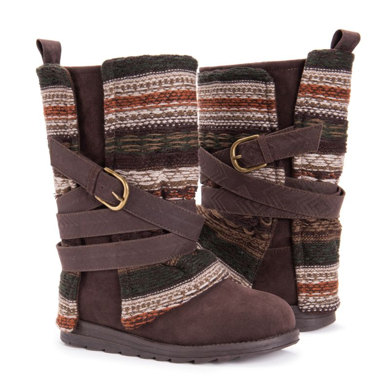 MUK LUKS Women's Nikki Boots-Medium Brown-6-Daily Steals