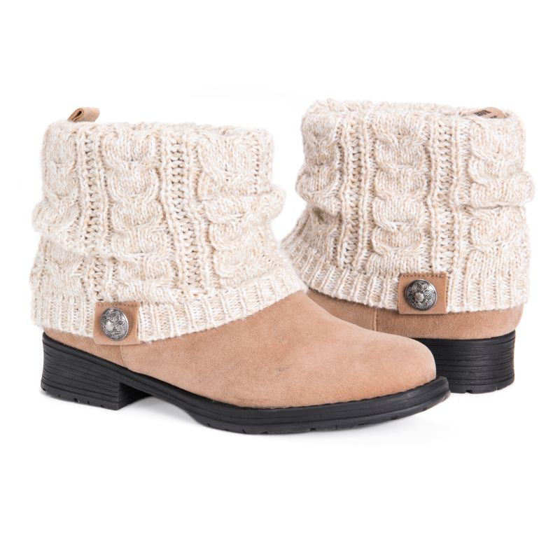 MUK LUKS Women's Pattrice Boots-Beachwood-6-Daily Steals