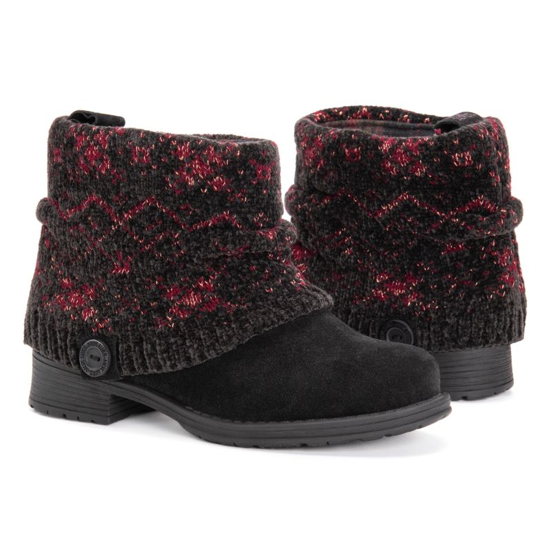 MUK LUKS Women's Pattrice Boots-Ebony-6-Daily Steals