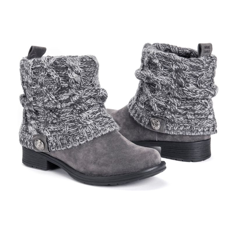 MUK LUKS Women's Pattrice Boots-Grey-6-Daily Steals