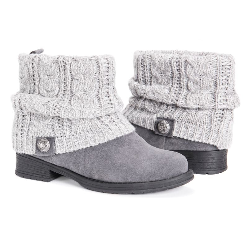 MUK LUKS Women's Pattrice Boots-Grey Heather-6-Daily Steals