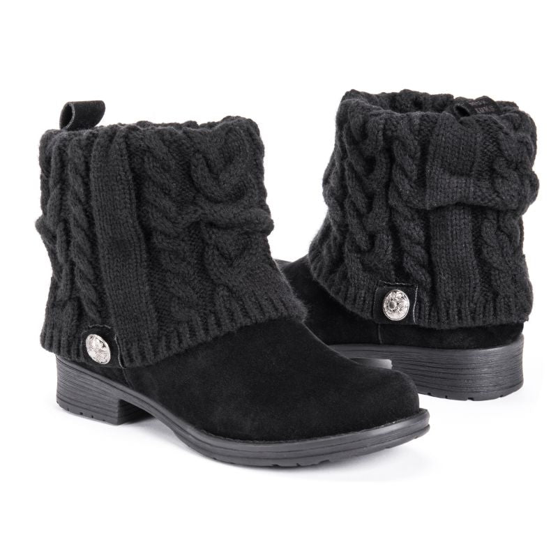 MUK LUKS Women's Pattrice Boots-Black-6-Daily Steals
