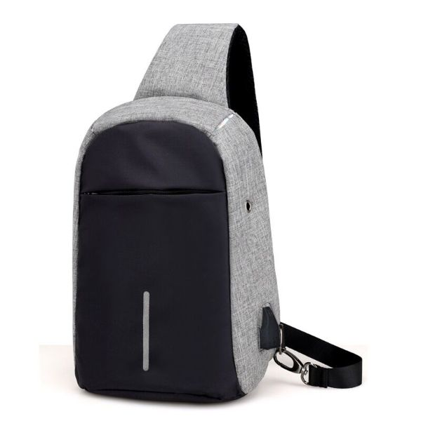 Multi-functional Anti-theft Crossbody Sling Bag-Black/Gray-Daily Steals