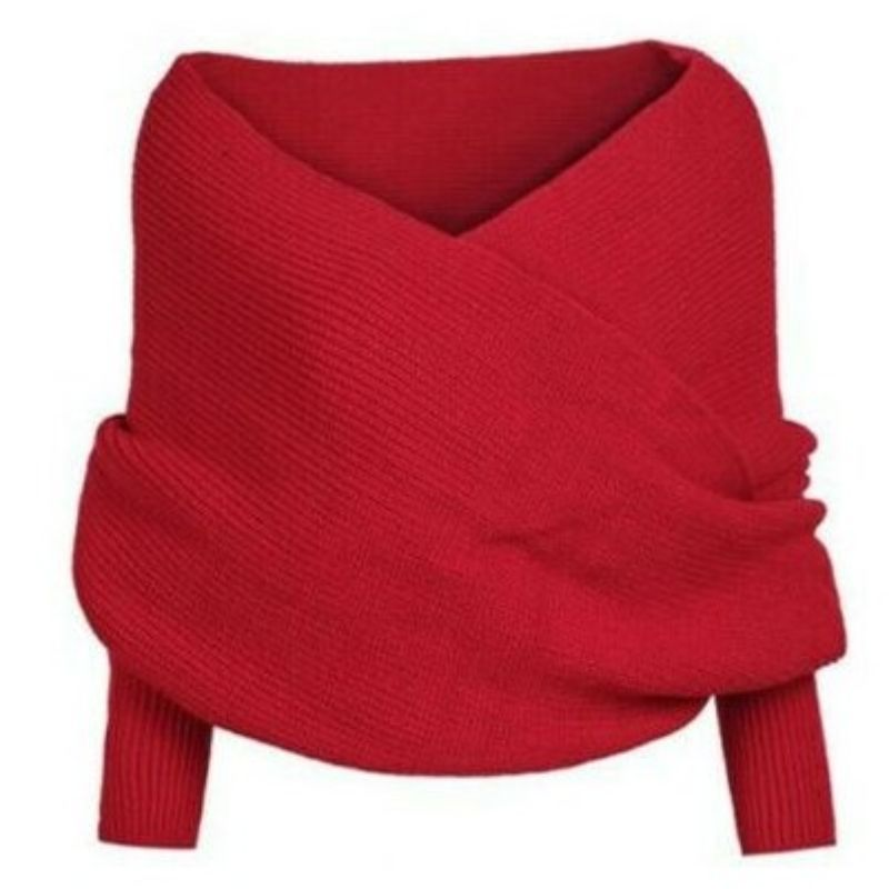 Multiway Unisex Scarf with Sleeves-RED-Daily Steals