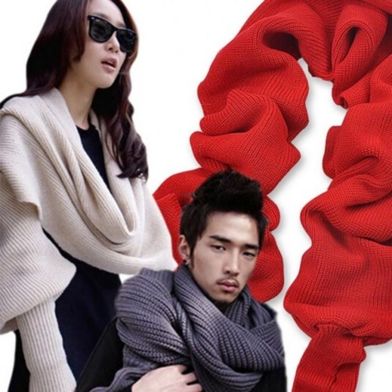 Multiway Unisex Scarf with Sleeves-Daily Steals