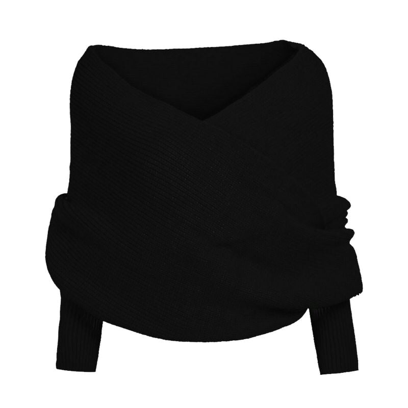 Multiway Unisex Scarf with Sleeves-BLACK-Daily Steals