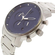 MVMT Men's Chrono Matte Silver Stainless-Steel Analog Quartz Watch-Daily Steals