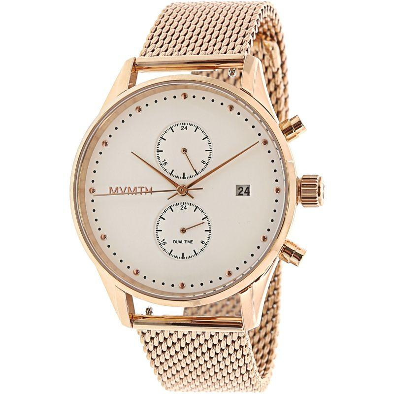 MVMT Unisex Voyager Rose-Gold Stainless-Steel Analog Quartz Dress Watch-Daily Steals