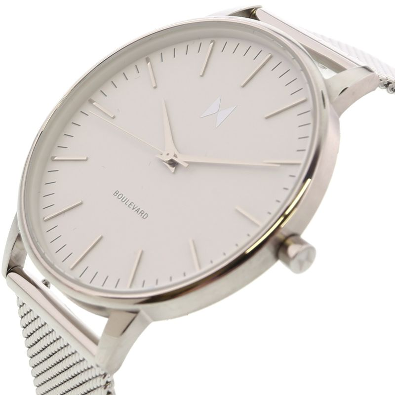 MVMT Boulevard Unisex Silver Watch - 38mm-Daily Steals