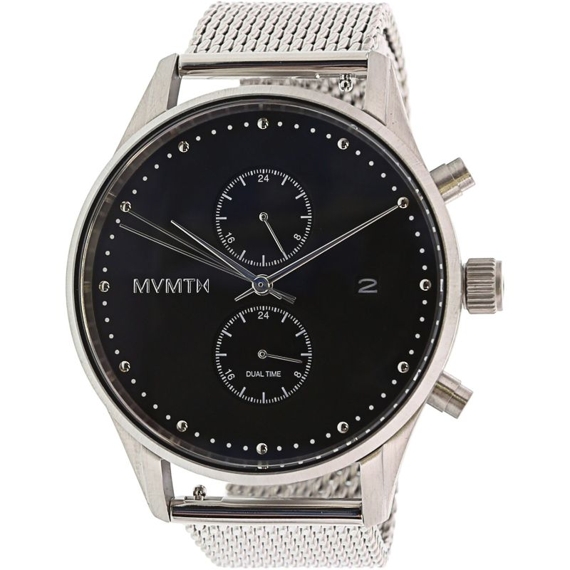MVMT Men's Voyager Matte Silver Stainless-Steel Analog Quartz Watch-Daily Steals