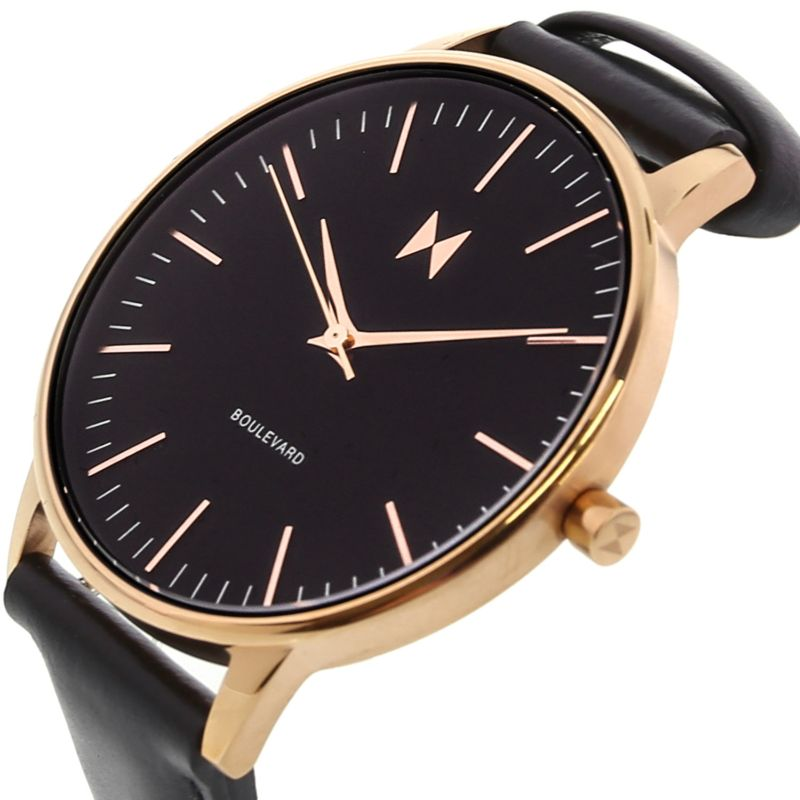 MVMT Women's Boulevard Gold Leather Analog Quartz Watch-Daily Steals