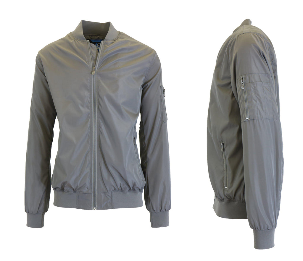 Men's Lightweight Windbreaker Jacket-Grey-S-Daily Steals