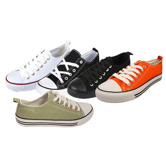 Women's Canvas Cap Toe Sneakers Low Top Shoes-Daily Steals