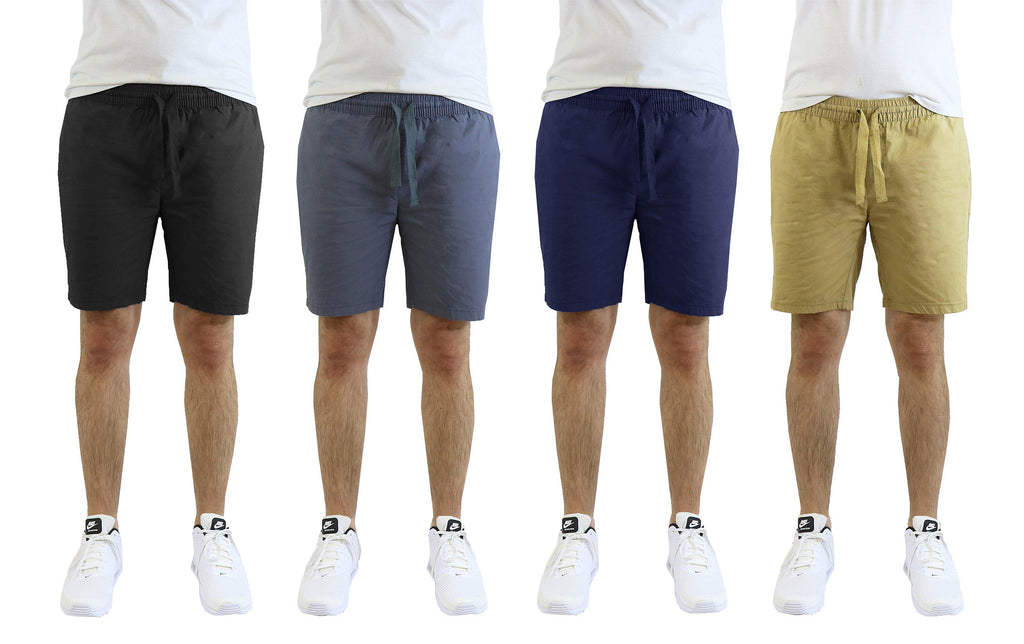 Men's Cotton Stretch Poplin Lounge Shorts-Daily Steals