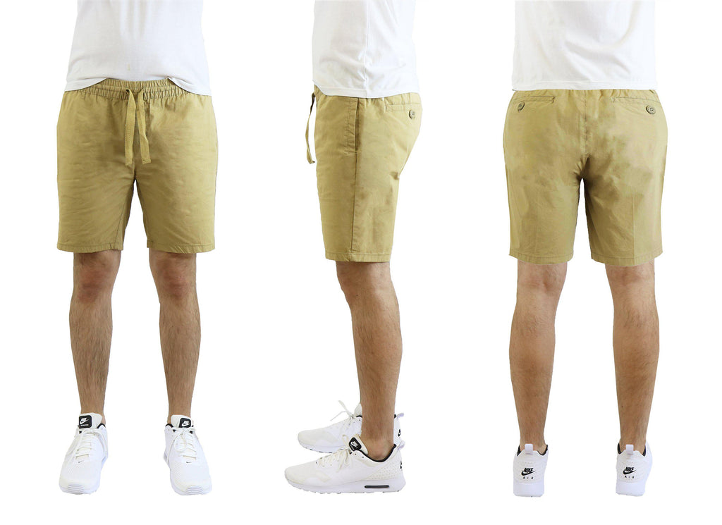 Mäns bomullsstretch Poplin Lounge Shorts-Timber-M-Daily Steals