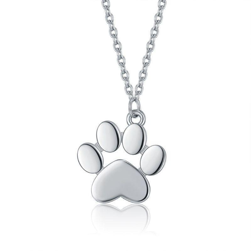 My Dogs Paw Necklace in 18K Gold Filled-White Gold-