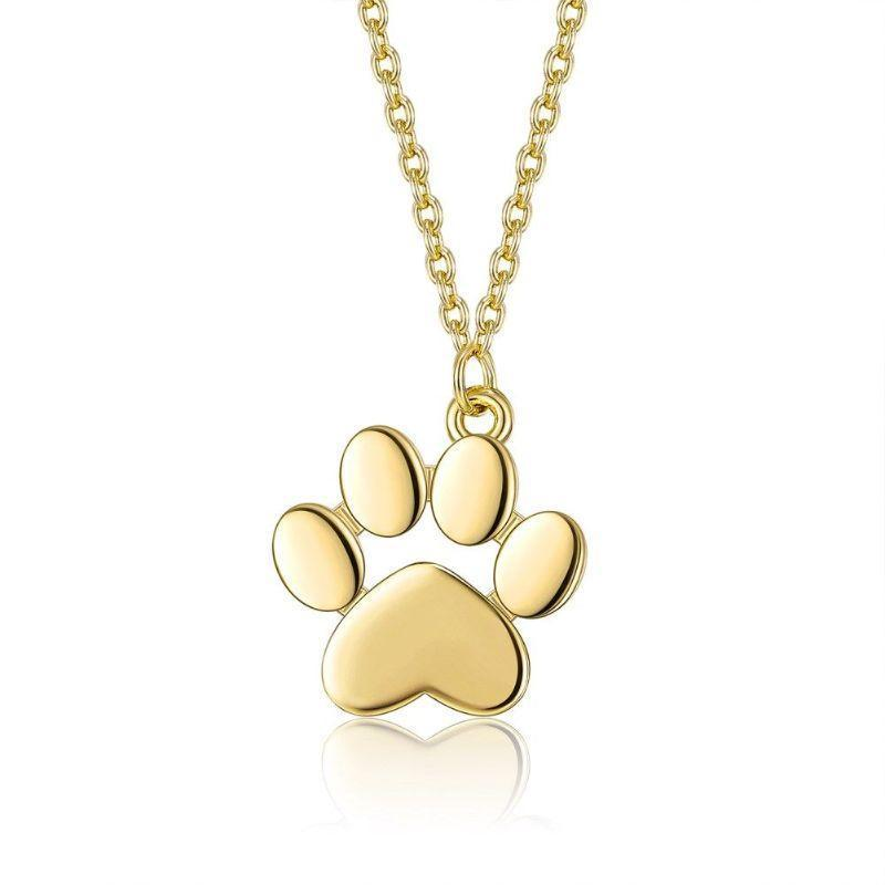 My Dogs Paw Necklace in 18K Gold Filled-Yellow Gold-