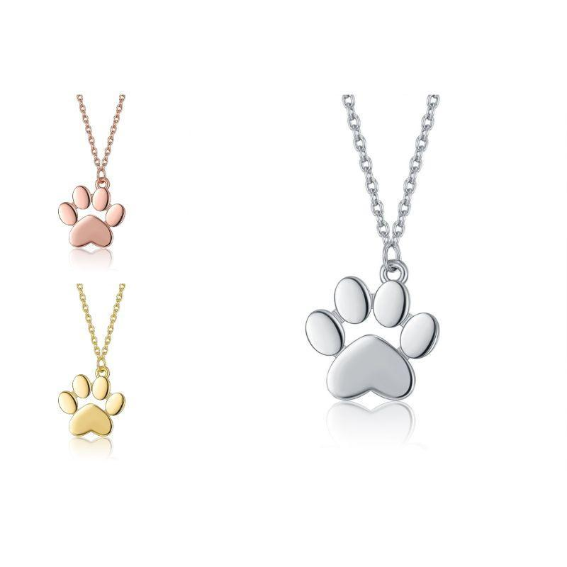 My Dogs Paw Necklace in 18K Gold Filled-Rose Gold-