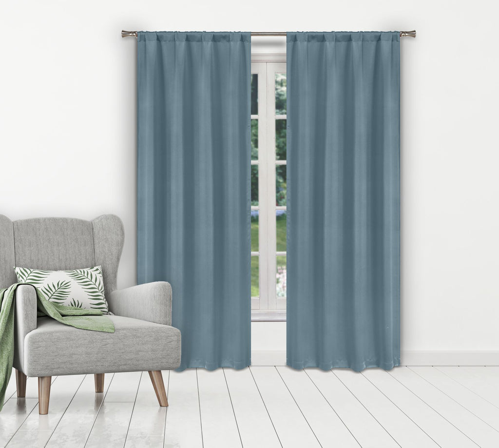 Solid Room-Darkening Double-Layered Window Panels (2-Pack)-Aquamarine-Daily Steals